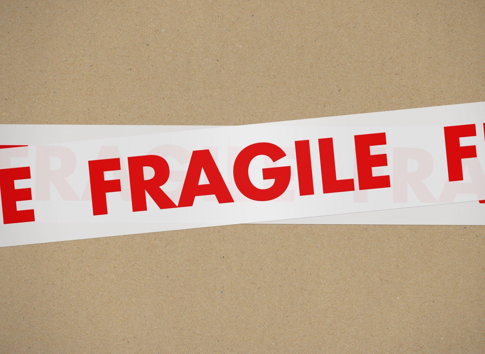 Red White Fragile tape