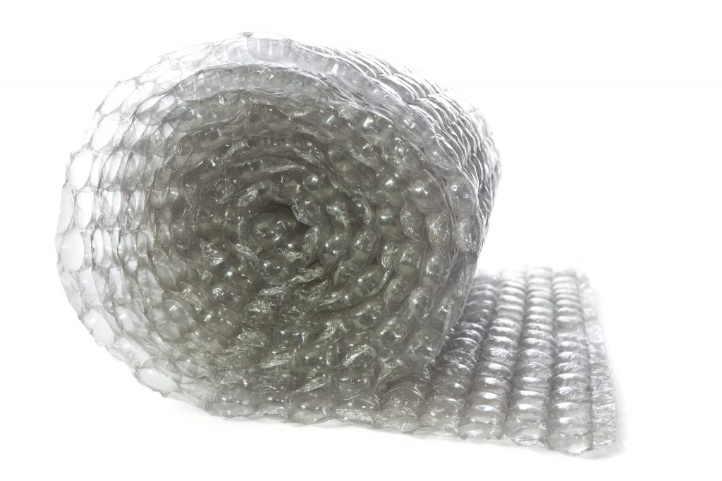 A large roll of bubble wrap